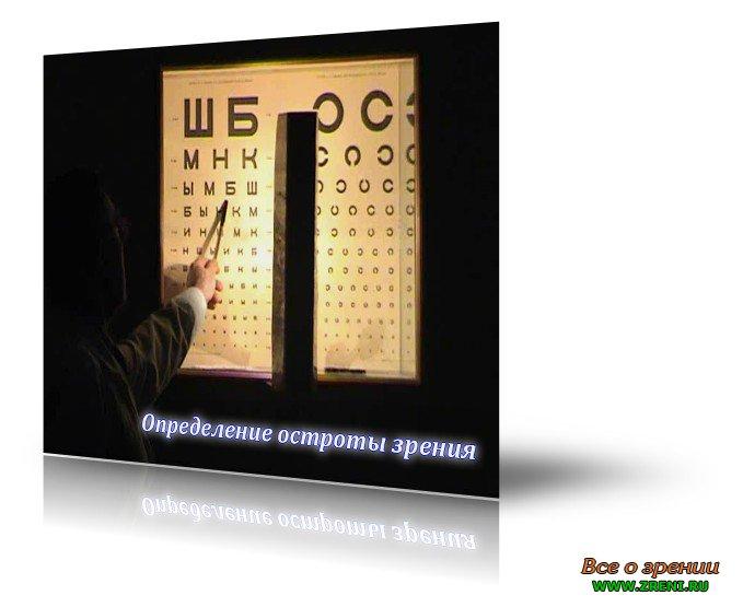 Определение остроты зрения.